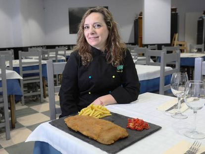 Carmen Fernandez, cocinera del restaurante Ingazu de Alcorcón, y ganadora del cachopo más popular de España.