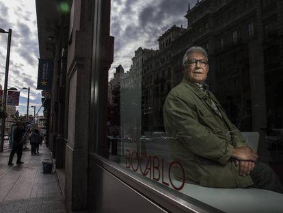 El escritor Fernando Delgado, en Madrid, hace cuatro años.