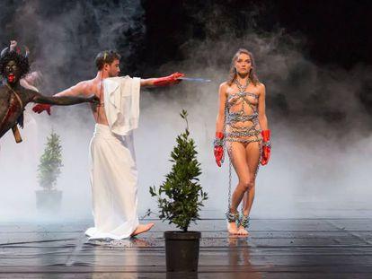Imagen de la obra 'Mount Olympus', de Jan Fabre, representada este año en Madrid y programada en Barcelona.