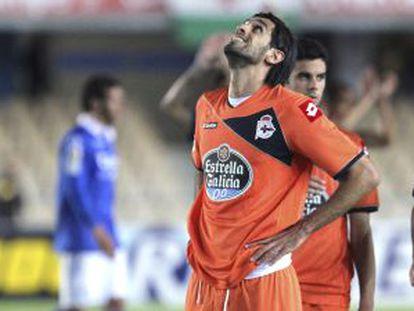Bruno Gama, Lassad, Juan Domínguez y Diego Colotto se lamentan tras el partido ante el Xerez.