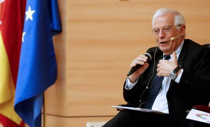 El ministro español de Exteriores, Josep Borrell, este miércoles en Madrid.