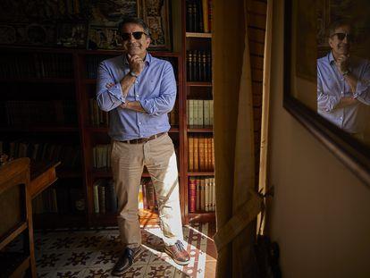 José Soto Chica, historiador y escritor, este martes en la sede del Centro de Estudios Bizantinos de Granada.