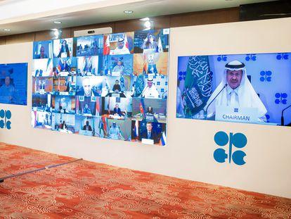 La cumbre de la OPEC por videoconferencia, durante el fin de semana.