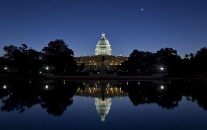 Vista del edificio del Capitolio en la segunda jornada del cierre parcial del Gobierno.