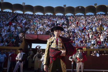 El torero José Tomás, en  Algeciras.