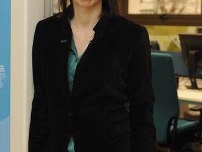 Marta Ares posa en Lehendakaritza poco después de la entrevista.