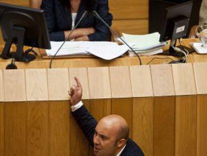 El socialista Lage Tuñas, en su intervención de la tarde.