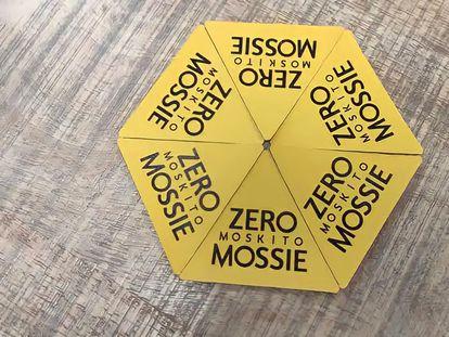 Etiquetas adhesivas antipicaduras de Planeta Zero Mossie.
