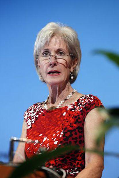 La Secretaria de Salud del Gobierno de Obama, Kathleen Sebelius