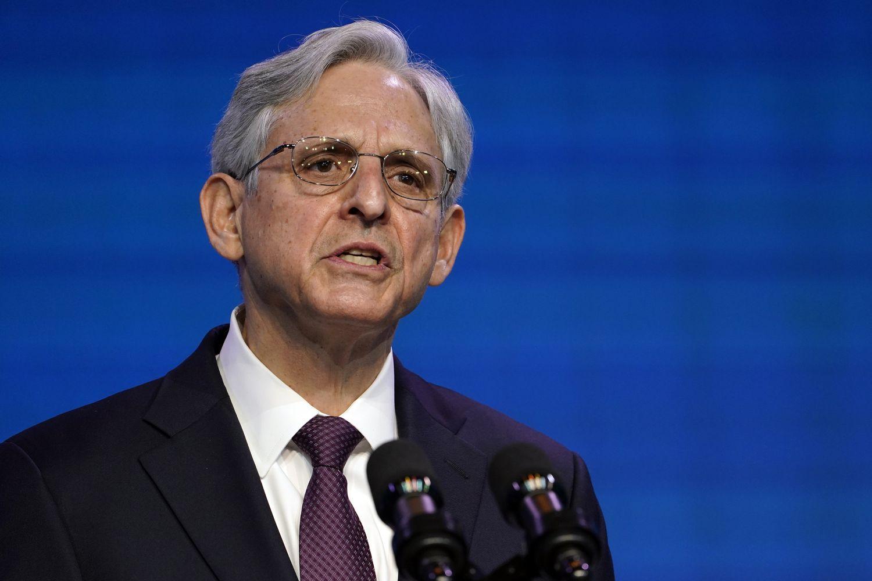 Merrick Garland nominado del presidente electo Joe Biden para el cargo de juez de fiscal general.