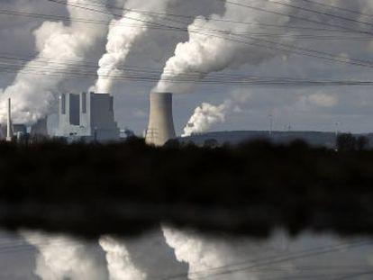 La planta de carbón de la empresa eléctrica alemana RWE en Neurath, en el oeste del país.