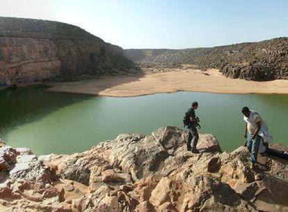 Laguna en el Guelta de Matmata (Mauritania)