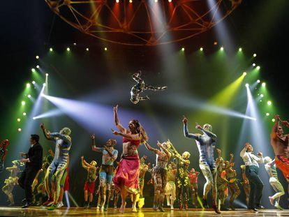 Un momento del espectáculo 'Totem', del Cirque du Soleil, en Madrid.