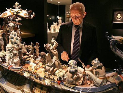 Juan Lladró, el mayor de los hermanos fundadores de la firma de porcelana.