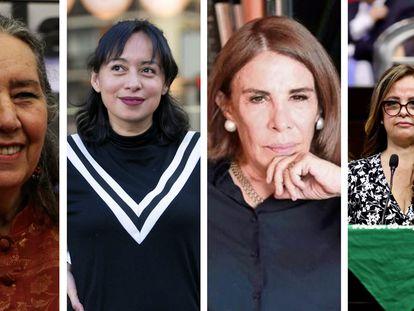 De izquierda a derecha: Marcela Lagarde, Brenda Navarro, Sabina Berman y Lorena Villavicencio.