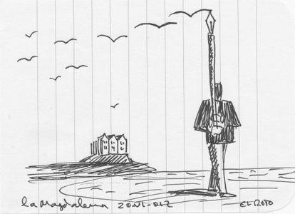 Ilustración de Andrés Rábago El Roto, dibujada durante el encuentro de Santander, 'Lecciones y maestros'.