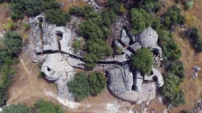 Imagen aérea del 'blockhouse' de Alamedilla, excavado por la Comunidad de Madrid.
