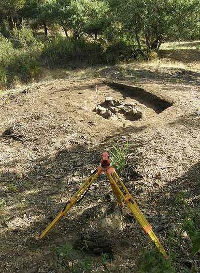 Emplazamiento de la fosa en la que aparecieron los 16 cadáveres de Grazalema.