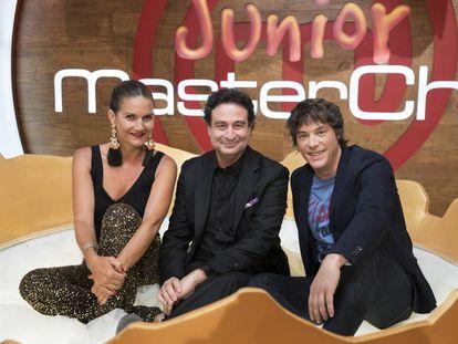 Samantha Vallejo-Nágera, Pepe Rodríguez y Jordi Cruz, jurado de 'MasterChef Junior'.