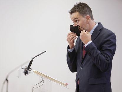 Héctor Gómez, portavoz del PSOE, el pasado martes en el Congreso.