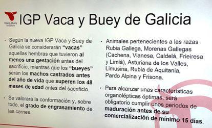 DETALLES DE LA NUEVA IGP VACA Y BUEY DE GALICIA / CAPEL