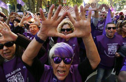 Manifestación en Madrid contra la violencia machista el pasado noviembre.