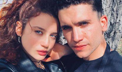 Los actores María Pedraza y Jaime Lorente en una foto de Instagram.