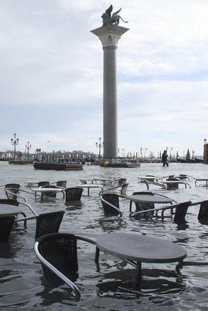 La plaza de San Marcos, anegada por las aguas altas en 2008.