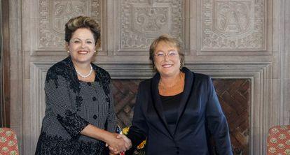 Rousseff, en la toma de posesión de Bachelet.