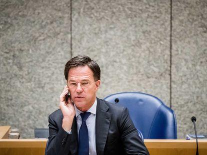 Mark Rutte, primer ministro de los Países Bajos, el martes en un debate en el Parlamento de La Haya.
