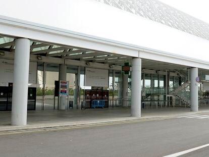 El aeropuerto de Palma de Mallorca, hoy, vacío.