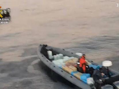 Momento de una de las operaciones contra los clanes de la droga en el Estrecho.