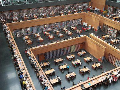 Biblioteca Nacional de China, en Pekín. Imagen de la web del documental 'Google and the world brain'.