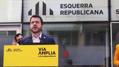 Pere Aragonès, ayer sábado.