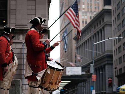 Celebración en el distrito financiero de Nueva York