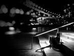 Bailarina con Manhattan de fondo. Nueva York, 2014.