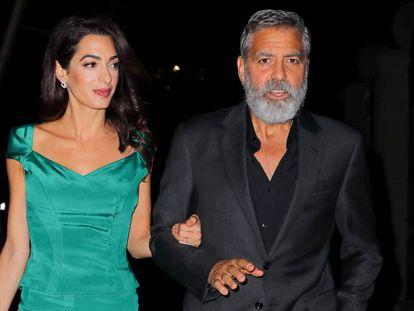 George y Amal Clooney, en octubre en Nueva York.