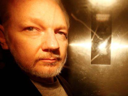 Julian Assange, el 1 de mayo de 2019 en Londres.