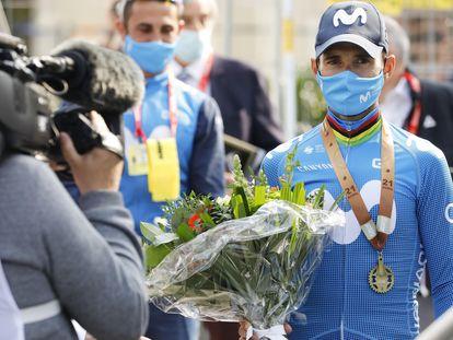 Valverde, tras terminar tercero el miércoles la Flecha Valona.