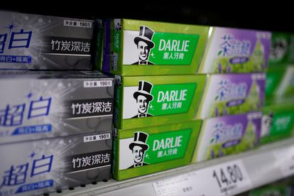 Pasta de dientes Darlie en un supermercado de Shanghái.