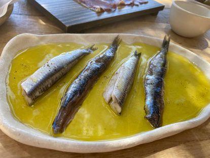 Boquerones en vinagre y anchoas en salazón. J.C. CAPEL