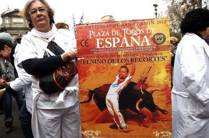 Manifestación contra los recortes en la sanidad madrileña.