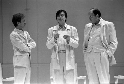 De izquierda a derecha, Carlos Hipólito, Josep Maria Flotats y José María Pou.
