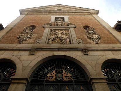Fachada de la iglesia de las Trinitarias en la calle Lope de Vega.