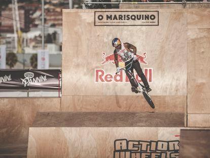 Daniel Sandoval este sábado en la semifinal de O Marisquiño en la disciplina Freestyle BMX, modalidad 'park'