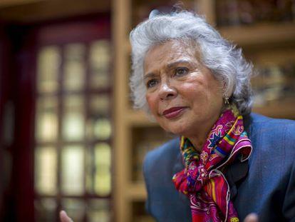 Olga Sánchez Cordero, durante la entrevista en la Ciudad de México.