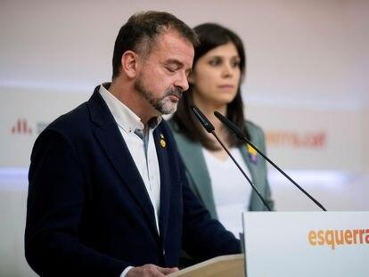 Alfred Bosch, exconsejero de Exteriores, y la portavoz de ERC, Marta Vilalta.