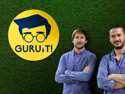 Pedro Pérez, a la izquierda, y Jaime Aparicio,  fundadores de Guruit.