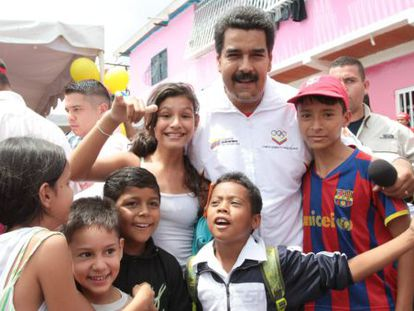 Maduro en San Cristóbal, Venezuela, este viernes.