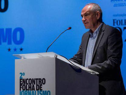 Antonio Caño abre la jornada de periodismo organizada por 'Folha de Sao Paulo'.